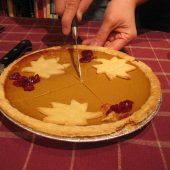 favorite pumpkin pie recipe realtor candis carmichael - cutting into the pumpkin pie