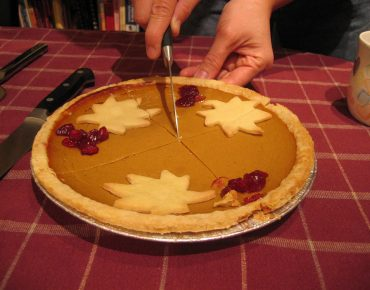 favorite pumpkin pie recipe realtor candis carmichael - cutting into the pumpkin pie
